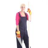Attraktive weibliche Arbeitskraft Lizenzfreie Stockbilder
