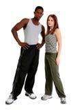 Attraktive zwischen verschiedenen Rassen Paare lizenzfreies stockfoto
