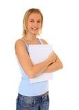 Attraktiver blonder Kursteilnehmer Lizenzfreie Stockbilder