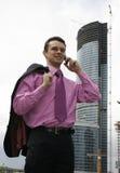 Attraktiver junger Geschäftsmann Stockbild