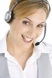 Attraktiver Kundendienst-Repräsentant Stockfoto