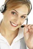 Attraktiver Kundendienst-Repräsentant Stockbilder