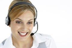 Attraktiver Kundendienst-Repräsentant Stockbild