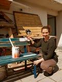 Frauenmalerei Lizenzfreies Stockfoto