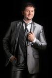 Attraktiver Mann im Anzug stockbilder