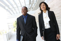 Attraktives Afroamerikaner-Geschäfts-Team Stockfotografie