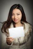 Attraktives asiatisches Mädchen 20 Jahre alte Schuss im Studio Lizenzfreies Stockfoto