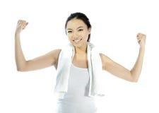 Attraktives asiatisches Mädchen 20 Jahre alte Schuss im Studio Stockbilder