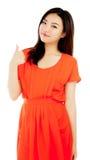 Attraktives asiatisches Mädchen 20 Jahre alte Schuss im Studio Stockbild