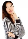 Attraktives asiatisches Mädchen 20 Jahre alte Schuss im Studio Lizenzfreies Stockbild