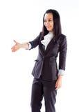Attraktives asiatisches Mädchen 30s lokalisiert auf weißem Hintergrund Stockbilder