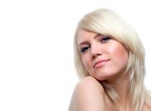 Attraktives blondes Stockbild
