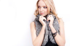 Attraktives blondes Baumuster lizenzfreies stockbild