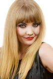 Attraktives blondes Frauenportrait Lizenzfreie Stockfotos