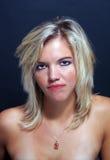 Attraktives blondes Headshot (1) Lizenzfreie Stockfotos