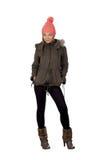 Attraktives blondes Mädchen mit Winterkleidung Lizenzfreie Stockfotos