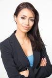 Attraktives elegantes Geschäftsfraulächeln lizenzfreies stockfoto