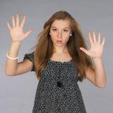 Attraktives geheimnisvolles Mädchen Lizenzfreies Stockbild