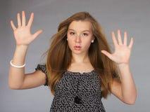 Attraktives geheimnisvolles Mädchen Lizenzfreie Stockfotos