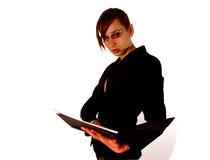 Attraktives Geschäftsmädchen Lizenzfreie Stockbilder