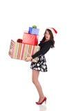 Attraktives jugendlich mit Geschenk Stockfoto