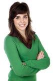 Attraktives junges beiläufiges Mädchen Lizenzfreies Stockfoto