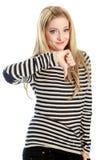 attraktives kaukasisches blondes in 30 Jahre alt Lizenzfreies Stockfoto