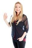 attraktives kaukasisches blondes in 30 Jahre alt Stockbilder