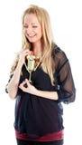 attraktives kaukasisches blondes in 30 Jahre alt Lizenzfreie Stockbilder