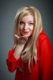 attraktives kaukasisches blondes in 30 Jahre alt Stockfotografie