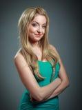 attraktives kaukasisches blondes in 30 Jahre alt Stockfotos