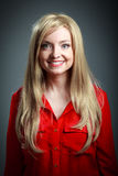 attraktives kaukasisches blondes in 30 Jahre alt Stockbild