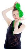 Attraktives kaukasisches Mädchen in ihren 30 schoss im Studio Stockbilder