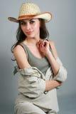 Attraktives landwirtschaftliches Mädchen Lizenzfreie Stockfotografie