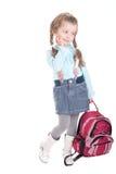 Attraktives Mädchen mit Rucksack Lizenzfreies Stockbild