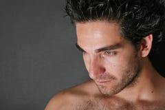 Attraktives männliches vorbildliches Portrait stockfotografie