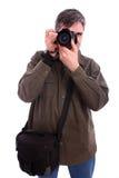 Attraktives Mannfotografieren Lizenzfreies Stockbild
