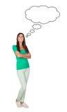 Attraktives nachdenkliches Mädchen Lizenzfreie Stockfotos
