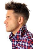 Attraktives Profil des jungen Mannes lizenzfreies stockfoto