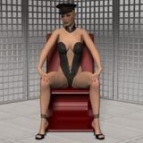 Attraktives reizvolles Mädchen in der Fetischabnutzung Stockbilder