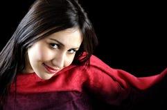 Attraktives schönes Portrait der jungen Frauen lizenzfreies stockbild