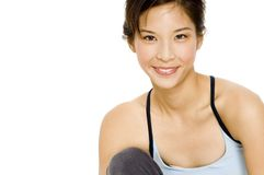 Attraktives sportliches Mädchen Lizenzfreie Stockbilder