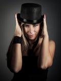 Attraktives vorbildliches Portrait Stockfotos