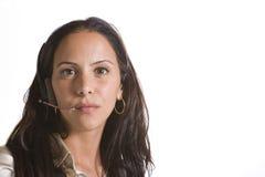 Attraktives weibliches Leitprogramm Lizenzfreies Stockbild