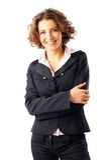 attraktivt affärskvinnabarn royaltyfri fotografi