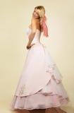 attraktivt barn för kvinna för klänningaftonstående arkivfoto