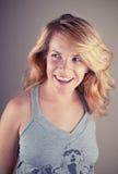 attraktivt blont kvinnabarn Royaltyfria Foton