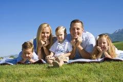 attraktivt familjbarn Royaltyfria Foton