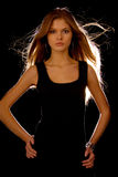 attraktivt flickabarn Fotografering för Bildbyråer