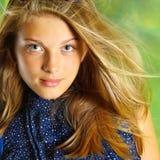 attraktivt flickahår long Royaltyfri Foto